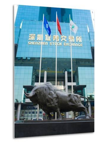 Stock Exchange, Shenzhen Special Economic Zone (S.E.Z.), Guangdong, China-Charles Bowman-Metal Print