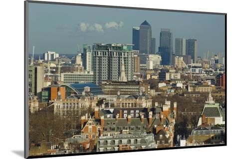 Skylines with Canary Wharf and Offices, London, England, United Kingdom-Charles Bowman-Mounted Photographic Print