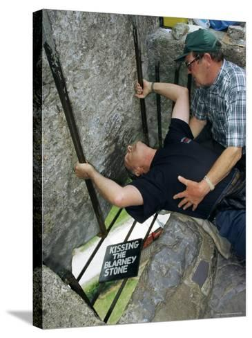 Kissing the Blarney Stone, County Cork, Munster, Eire (Republic of Ireland)-Julia Bayne-Stretched Canvas Print