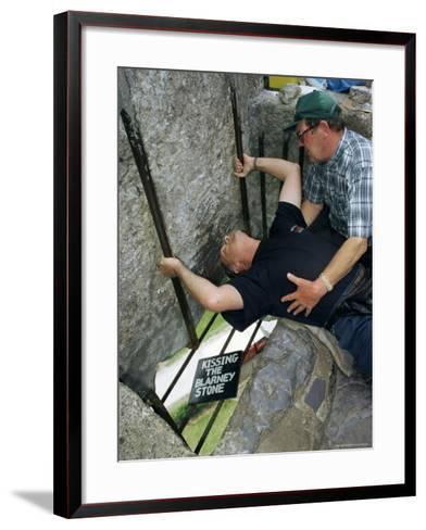 Kissing the Blarney Stone, County Cork, Munster, Eire (Republic of Ireland)-Julia Bayne-Framed Art Print
