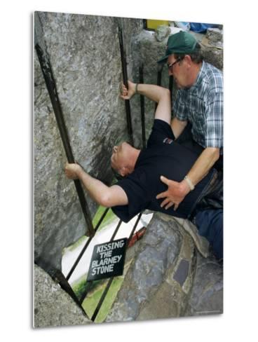 Kissing the Blarney Stone, County Cork, Munster, Eire (Republic of Ireland)-Julia Bayne-Metal Print
