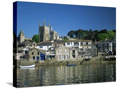 Waterfront, Fowey, Cornwall, England, United Kingdom-Julia Bayne-Stretched Canvas Print
