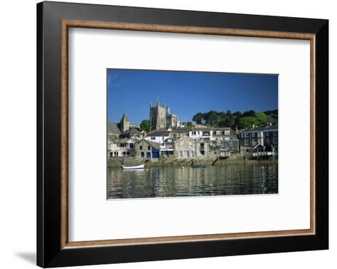 Waterfront, Fowey, Cornwall, England, United Kingdom-Julia Bayne-Framed Art Print