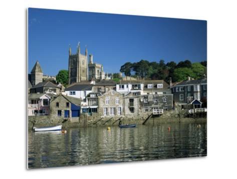 Waterfront, Fowey, Cornwall, England, United Kingdom-Julia Bayne-Metal Print