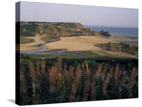 Oxwich Bay, Gower Peninsula, West Glamorgan, Wales, United Kingdom-Julia Bayne-Stretched Canvas Print