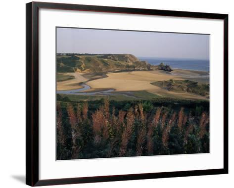 Oxwich Bay, Gower Peninsula, West Glamorgan, Wales, United Kingdom-Julia Bayne-Framed Art Print