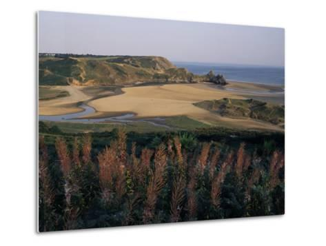 Oxwich Bay, Gower Peninsula, West Glamorgan, Wales, United Kingdom-Julia Bayne-Metal Print