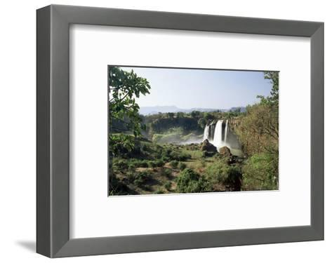 Tis Abay Waterfall on the Blue Nile, Ethiopia, Africa-Julia Bayne-Framed Art Print