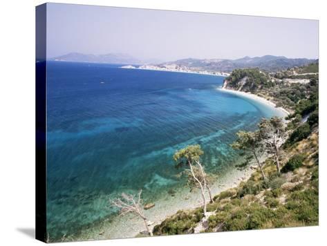 Coastline Near Kokkeri, Island of Samos, Greece-David Beatty-Stretched Canvas Print