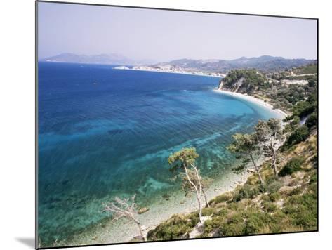Coastline Near Kokkeri, Island of Samos, Greece-David Beatty-Mounted Photographic Print