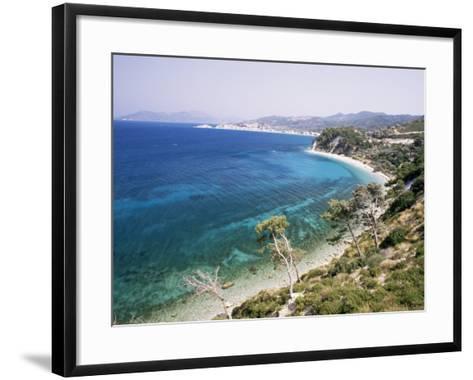 Coastline Near Kokkeri, Island of Samos, Greece-David Beatty-Framed Art Print