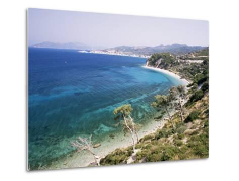 Coastline Near Kokkeri, Island of Samos, Greece-David Beatty-Metal Print