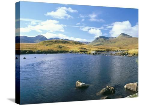 Loch Ba and the Black Mountains in Autumn, Rannoch Moor, Scotland-Pearl Bucknall-Stretched Canvas Print