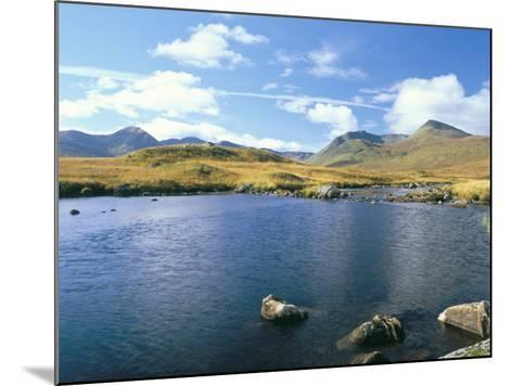 Loch Ba and the Black Mountains in Autumn, Rannoch Moor, Scotland-Pearl Bucknall-Mounted Photographic Print
