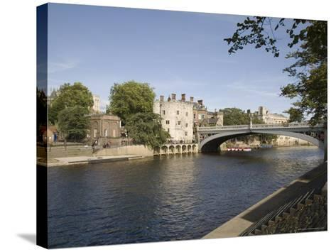 River Ouse with Lendal Bridge and Lendal Tower Beyond, York, Yorkshire, England-Pearl Bucknall-Stretched Canvas Print