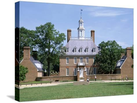 Exterior of Governor's Palace, Colonial Architecture, Williamsburg, Virginia, USA-Pearl Bucknall-Stretched Canvas Print