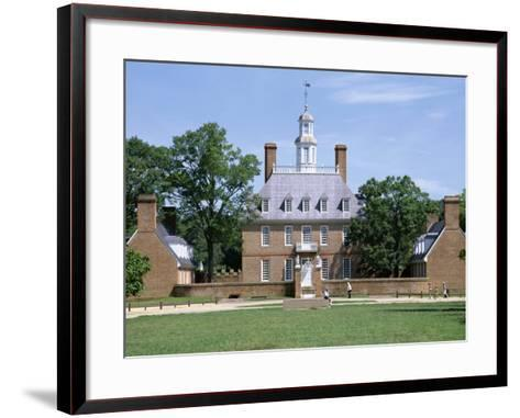 Exterior of Governor's Palace, Colonial Architecture, Williamsburg, Virginia, USA-Pearl Bucknall-Framed Art Print