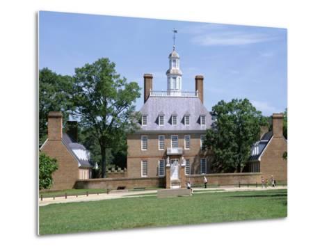 Exterior of Governor's Palace, Colonial Architecture, Williamsburg, Virginia, USA-Pearl Bucknall-Metal Print