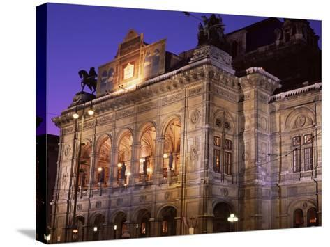 The Opera at Night, Vienna, Austria-Jean Brooks-Stretched Canvas Print