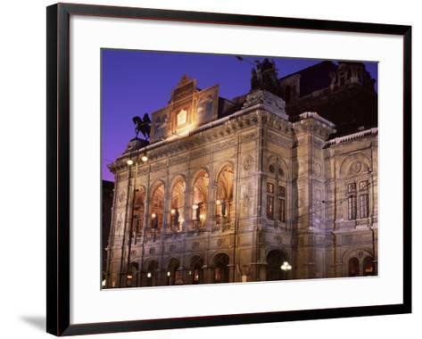 The Opera at Night, Vienna, Austria-Jean Brooks-Framed Art Print