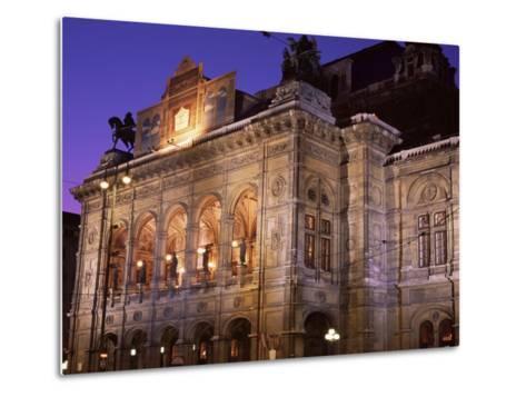 The Opera at Night, Vienna, Austria-Jean Brooks-Metal Print