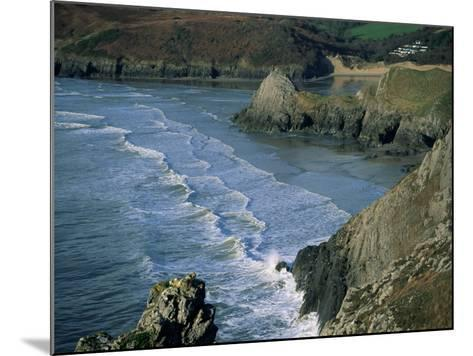 Three Cliffs Bay, Gower Peninsula, Glamorgan, Wales, United Kingdom-Jean Brooks-Mounted Photographic Print