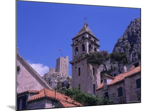Bell Tower and Fortress, Omis, Makarska Riviera, Croatia-Jean Brooks-Mounted Photographic Print