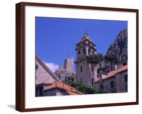 Bell Tower and Fortress, Omis, Makarska Riviera, Croatia-Jean Brooks-Framed Art Print