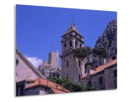Bell Tower and Fortress, Omis, Makarska Riviera, Croatia-Jean Brooks-Metal Print
