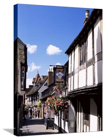 Church Lane, Ledbury, Herefordshire, England, United Kingdom-Jean Brooks-Stretched Canvas Print