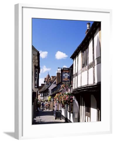 Church Lane, Ledbury, Herefordshire, England, United Kingdom-Jean Brooks-Framed Art Print