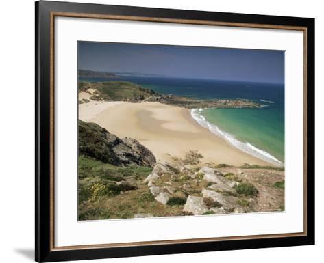 Beach Near Cap Frehel, Emerald Coast, Brittany, France-Michael Busselle-Framed Art Print