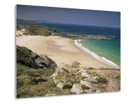 Beach Near Cap Frehel, Emerald Coast, Brittany, France-Michael Busselle-Metal Print