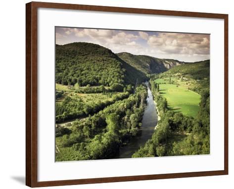 River Aveyron Near St. Antonin Noble Val, Midi Pyrenees, France-Michael Busselle-Framed Art Print