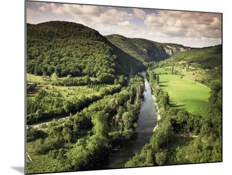 River Aveyron Near St. Antonin Noble Val, Midi Pyrenees, France-Michael Busselle-Mounted Photographic Print
