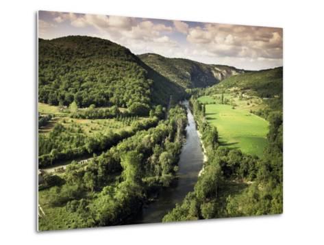 River Aveyron Near St. Antonin Noble Val, Midi Pyrenees, France-Michael Busselle-Metal Print