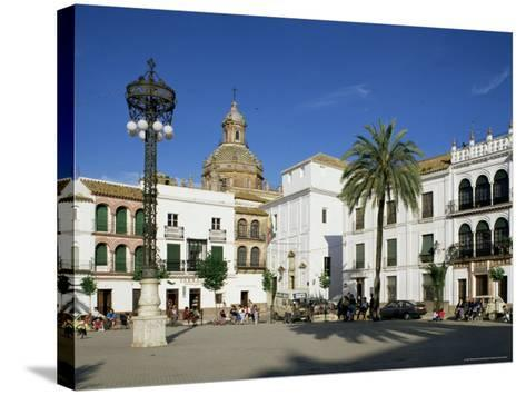 Main Square, Carmona, Seville Area, Andalucia, Spain-Michael Busselle-Stretched Canvas Print