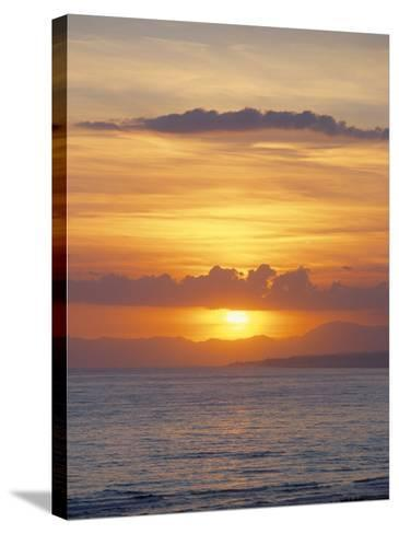 Sunset Over Sea, Costa Del Sol, Andalucia (Andalusia), Spain, Mediterranean-Michael Busselle-Stretched Canvas Print