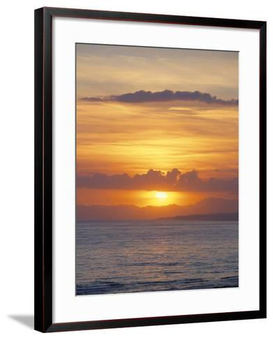 Sunset Over Sea, Costa Del Sol, Andalucia (Andalusia), Spain, Mediterranean-Michael Busselle-Framed Art Print