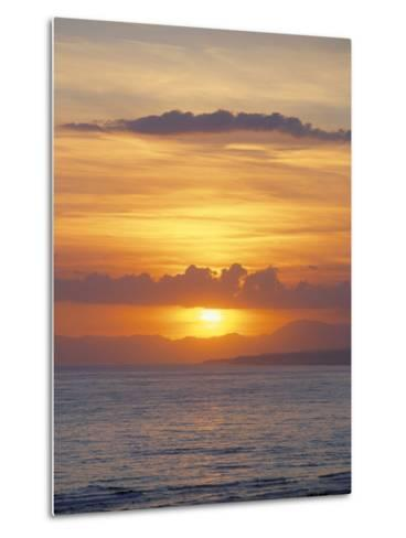 Sunset Over Sea, Costa Del Sol, Andalucia (Andalusia), Spain, Mediterranean-Michael Busselle-Metal Print