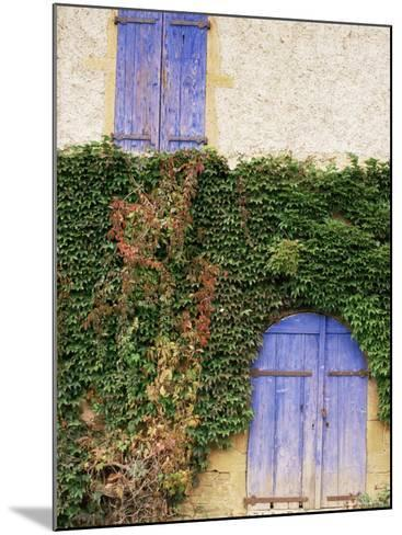 Blue Shutters on a House, Rhone Alpes, France-Michael Busselle-Mounted Photographic Print