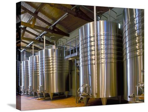 Wine Fermentation Tanks, Chateau Comtesse De Lalande, Pauillac, Gironde, France-Michael Busselle-Stretched Canvas Print