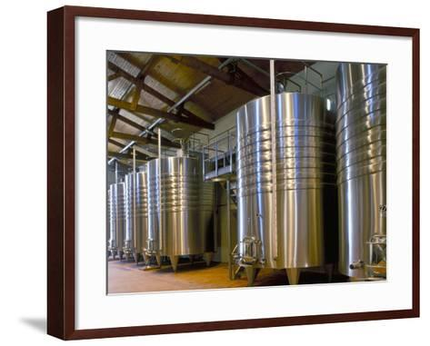 Wine Fermentation Tanks, Chateau Comtesse De Lalande, Pauillac, Gironde, France-Michael Busselle-Framed Art Print