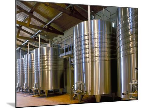 Wine Fermentation Tanks, Chateau Comtesse De Lalande, Pauillac, Gironde, France-Michael Busselle-Mounted Photographic Print