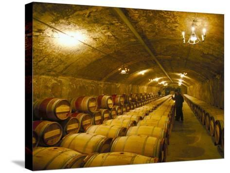 The Cellars, Chateau Lafitte Rothschild, Pauillac, Gironde, France-Michael Busselle-Stretched Canvas Print
