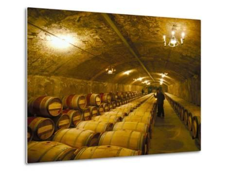 The Cellars, Chateau Lafitte Rothschild, Pauillac, Gironde, France-Michael Busselle-Metal Print