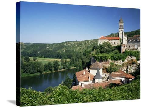 Village of Albas, Near Cahors, Lot, Midi-Pyrenees, France-Michael Busselle-Stretched Canvas Print