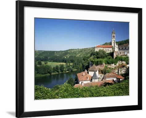Village of Albas, Near Cahors, Lot, Midi-Pyrenees, France-Michael Busselle-Framed Art Print