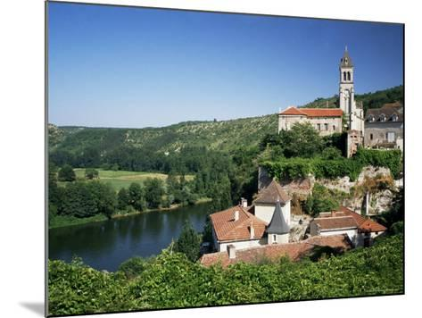 Village of Albas, Near Cahors, Lot, Midi-Pyrenees, France-Michael Busselle-Mounted Photographic Print