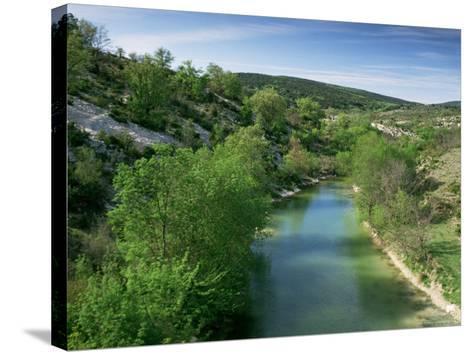 River Herault, Near St. Guilhem Le Desert, Languedoc-Roussillon, France-Michael Busselle-Stretched Canvas Print